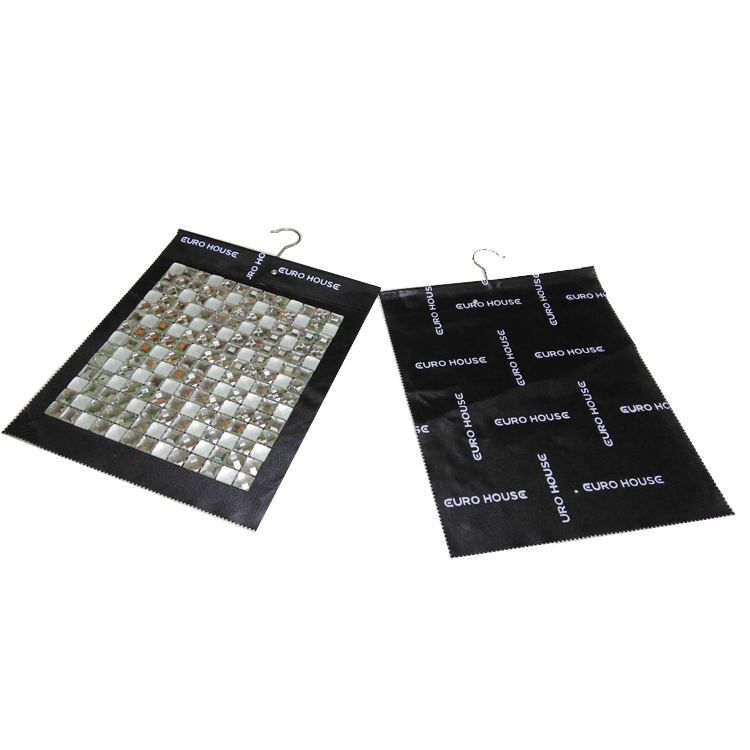 PS001-Custom design high quality No-woven Fabric Mosaic tile sample Hanger