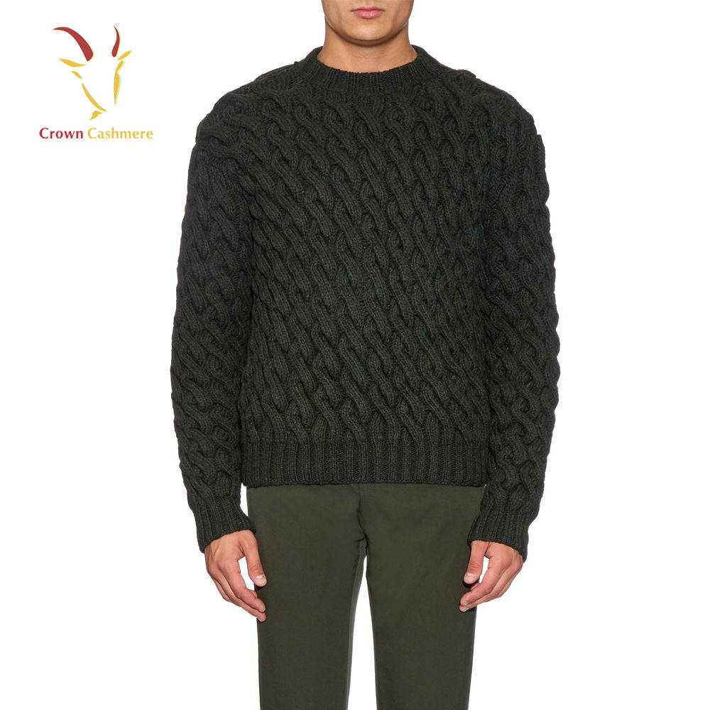 Herren Merinowolle Chunky Cable Knit Winter Pullover Pullover