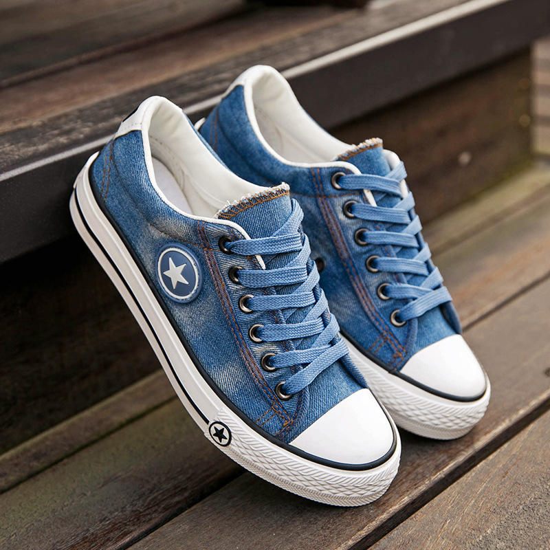 Factory Price Fashion Casual 스타 (energy star) Denim Canvas Shoes 대 한 Women