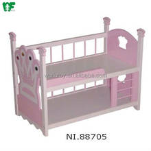 Hot New Products Kindergarten Kids Toys Wooden Baby Doll Cribs And Beds