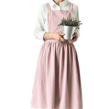 new design linen cotton blend fashion kitchen apron dress China supplier