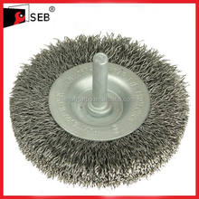 Stem-mounted wire wheel brush for die grinder SEB-WB111901