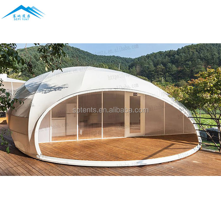 Luxury eco resort PVDF outdoor prefab glamping mountain house hotel tent for camping