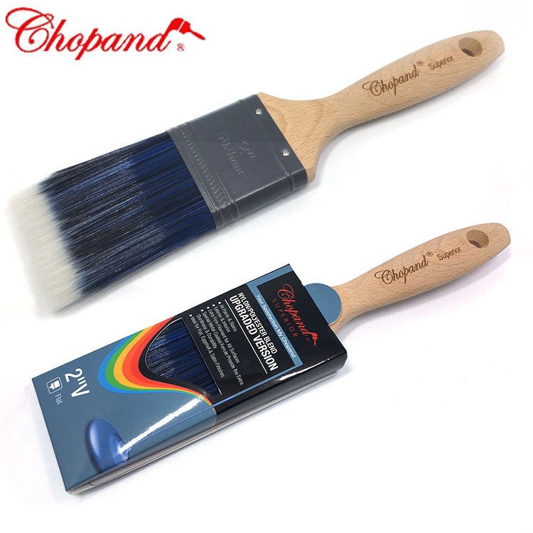 Wholesale Wooden Handle Paint Brush Manufacturer 3 Colour Wooden Handle Paint Brush