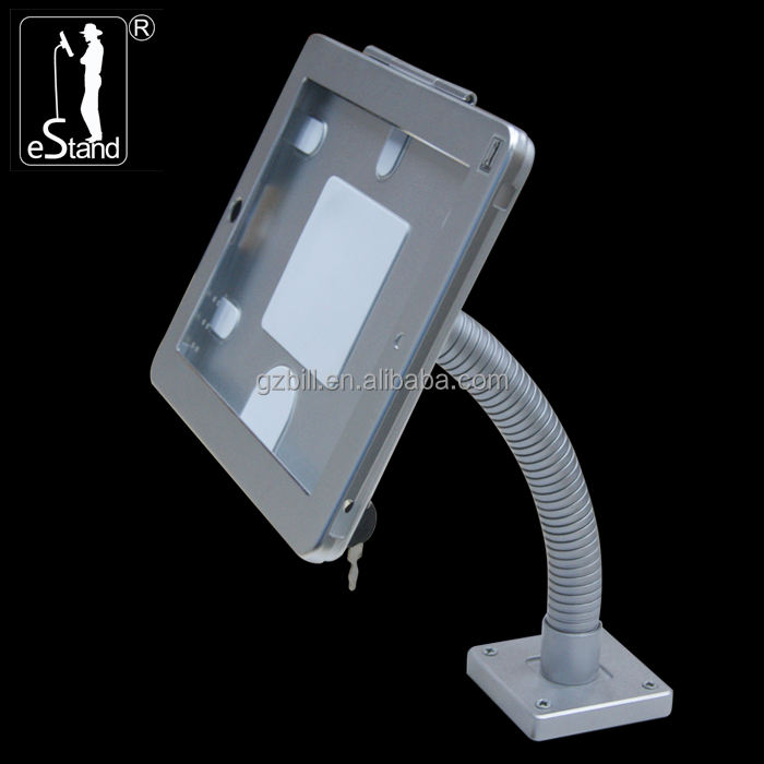 eStand BR24007 screw wall/desk payment lockable bracket for ipad pro tablet security kiosk