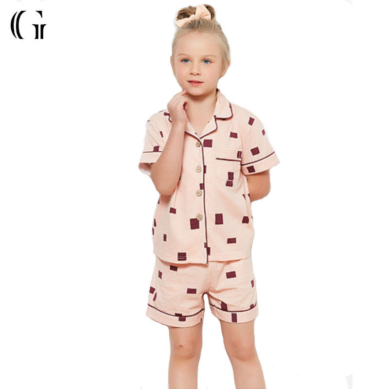 Wholesale High Quality Kids 2 Pieces Cotton Sleepwear Children's Pajamas
