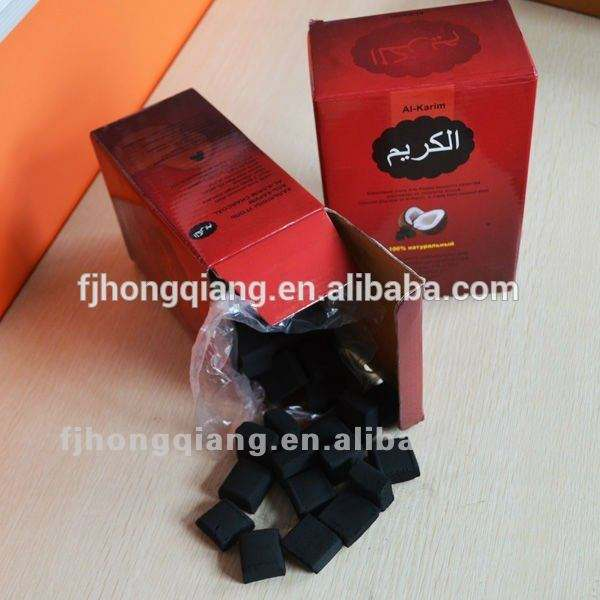 Hongqiang бесплатный образец кокосовое кальян уголь брикет