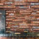 Cheap Wallpaper 3D Vintage Wallpaper Mural Coffee Shop Leisure Bar Milk Tea Shop Graffiti Mural