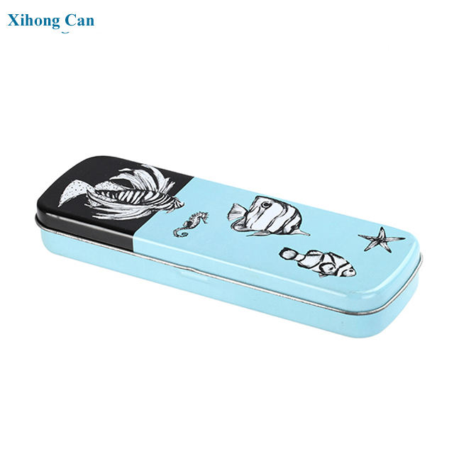 factory wholesale fancy pencil case packaging tinplate case with custom printing