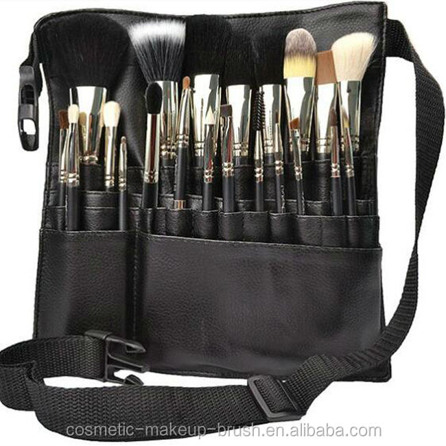 Wholesale private brand high quality natural hair cosmetic brush 21pc professional makeup brush set