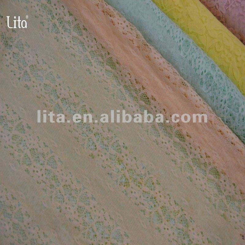 M1100 сдвоенная линия использование платья ткани шнурка spandex desidn цветка