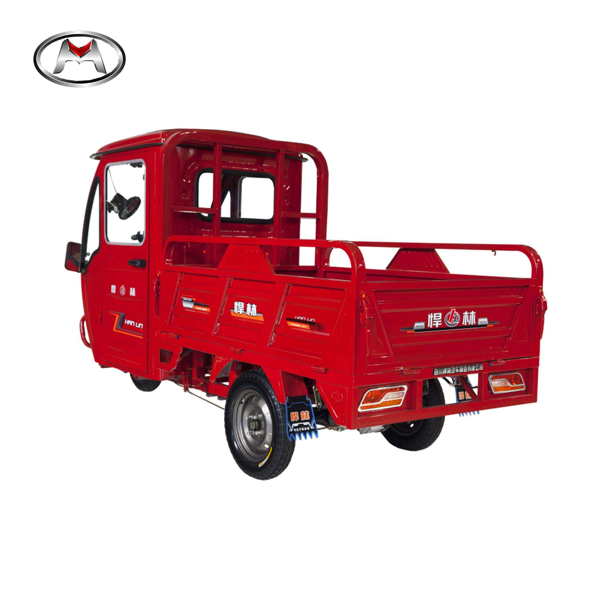 48V/60V half closed cargo use electric tricycle with Cabin /cargo truck/electric tuk tuk