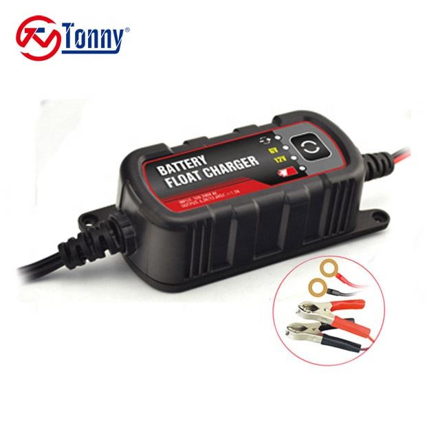 Portable 1.5A 6V/12V smart battery charger/maintainer TE4-0251
