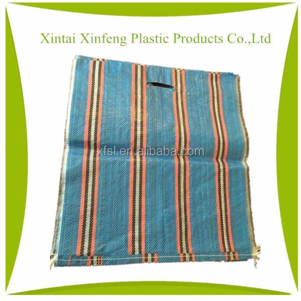 Eco 5 kg película opp laminado tejido pp bolso de la manija para el arroz, harina de trigo