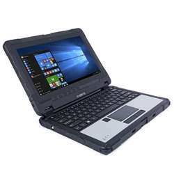 Cheapest factory 11.6 inch rugged laptop  computer with  2D Barcode and Fingerprint scanner