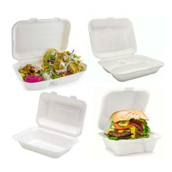 Compostable Sugarcane Bagasse Lunch Box Clamshell