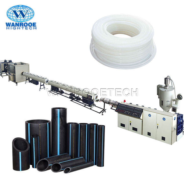Plastic Recycling Line PS PP PE PPR HDPE Extrusion LDPE Pipe Making Machine