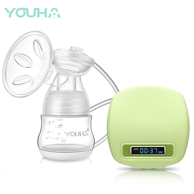 Lithium battery smart display electric green single breast pump