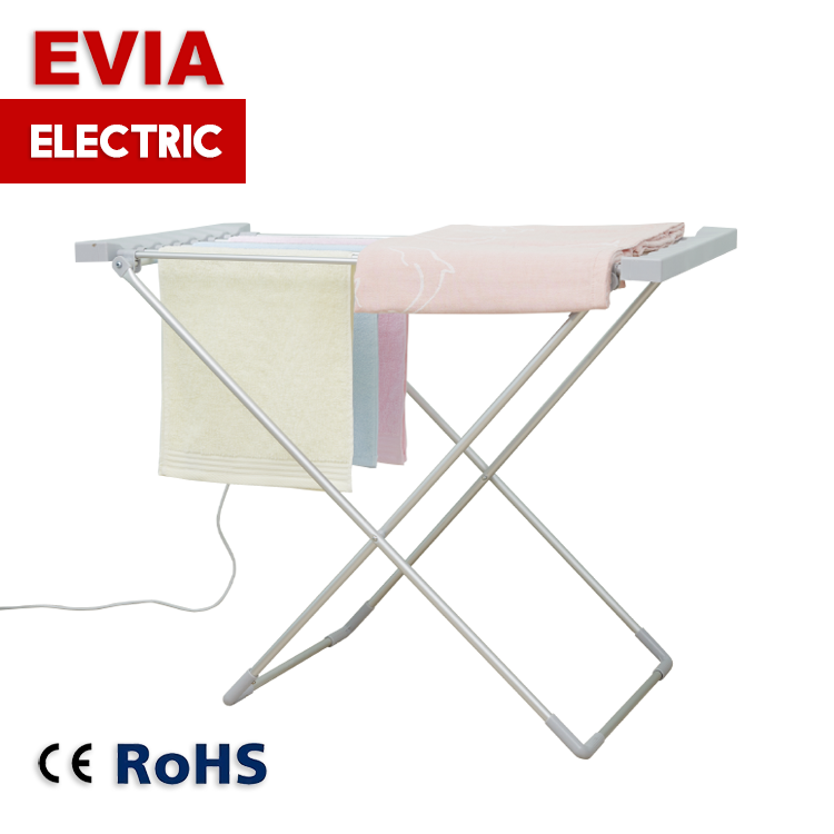 Home [ Clothes Rack ] Foldable Clothes Rack Metal Foldable Laundry Hanging Dryer Electric Clothes Drying Rack For Home