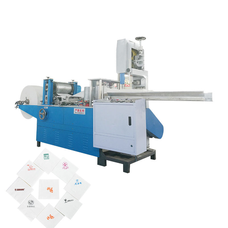 Henan fuyuan 240Mm Two Color Printing M Type Folding Paper Napkin Machine