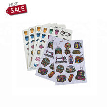 Wholesale Printing Adhesive PP Paper Kiss Cut Labels Stickers Sheets Custom for Kids, Customised Printed Vinyl Sticker Printing