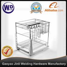 pull out wire basket three layer WT-YG0940A drawer basket