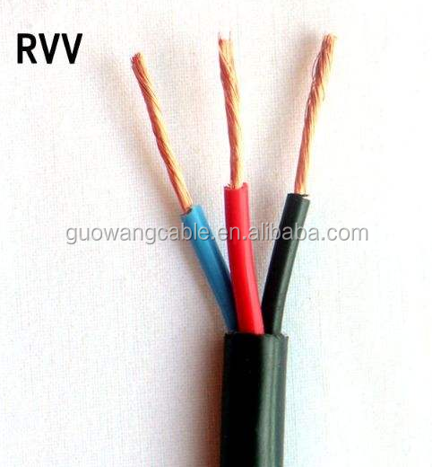 PVC Black RV 0.5mm² Single Core Multi Strand Wire High Power LED Power Cable