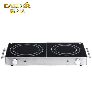 Two burner cooking hot plate electric ceramic cooker stove