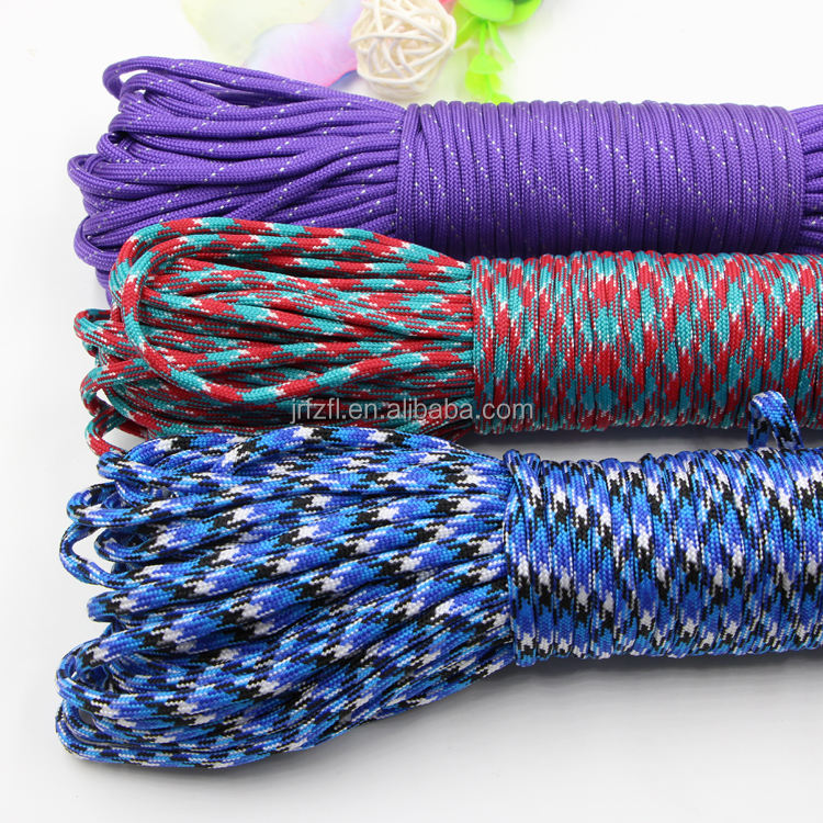 Camping Hiking Survival Paracord Parachute Cord 7 Core Parachute Cord Sale