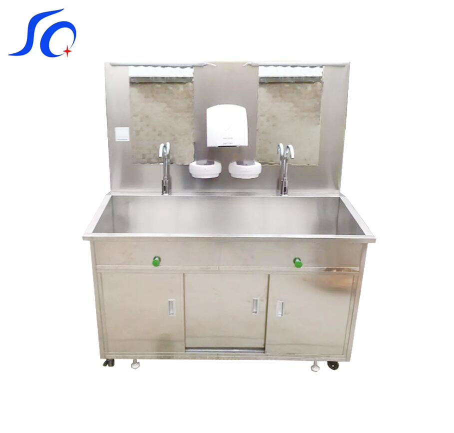 Stainless Steel 1 Person Scrub Sink Station