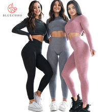 2019 Knitted Seamless Leggings Outdoor Sports High Waist Butt Lift Camel Toe Women Yoga Pants