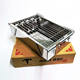Camping disposable portable foldable stainless steel mini bbq charcoal grill stove on table