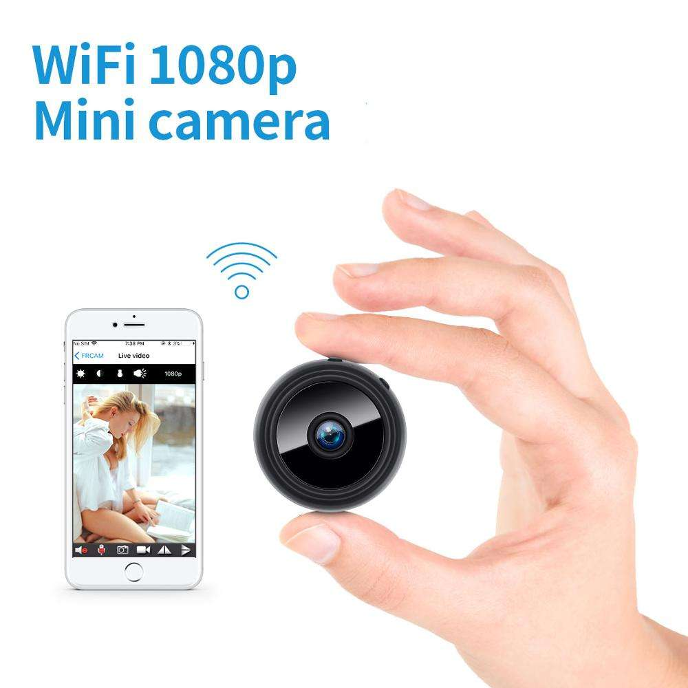 Network Remote Monitoring Night Vision Battery Powered Mini Hidden HD 1080p Camera Wifi Wireless Micro Spy Camera