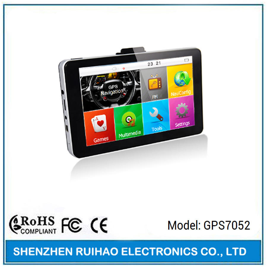 Yüksek hızlı 7 inç gps mediatek mt2531 256 ram 8 gb flaş ve tmc ile gps