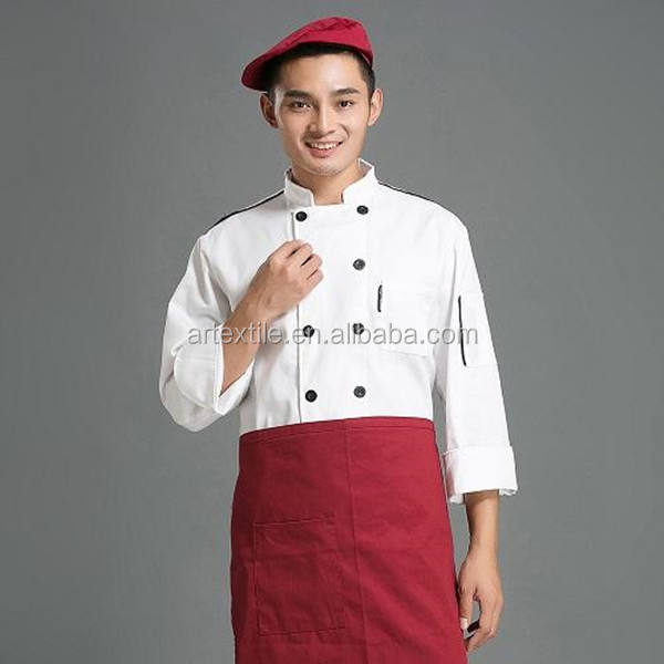 Unisex Men Women Chef Jacket White Black Coats Cook Clothes Food Service