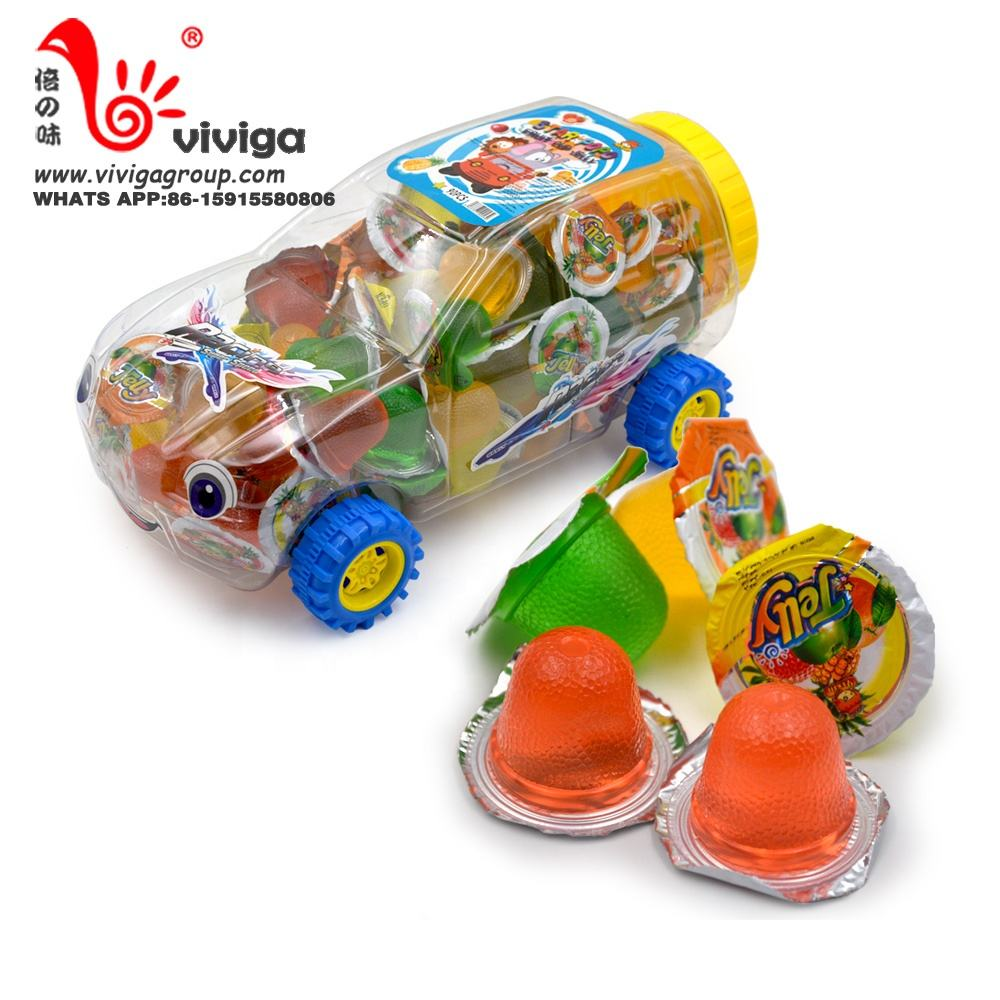 13g fruit jelly cup with toy car packing