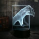 Remote Control Cool Animal Beast Paw 3D LED Night Light Desk Lamp Friend Birthday Christmas Gift Remote Control Home Decorative