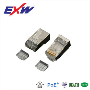 EXW High Quality Cat6A Arched RJ45 Connector Plug Shielded