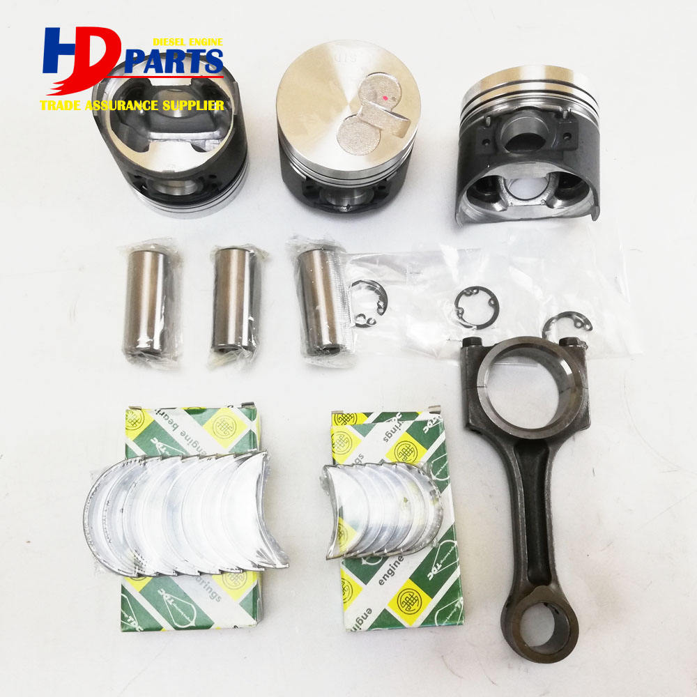 3TNV70 Bush Bearing Piston Cylinder Liner Connecting Rod Overhaul Kit For Yanmar Diesel Engine Spare Parts