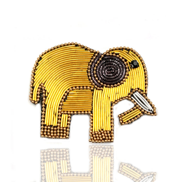 Embellish Handmade Elephant Multipurpose DIY Sandal Accessories India Wire Beads Chain Rhinestone Buckle Shoes Ornament Metal