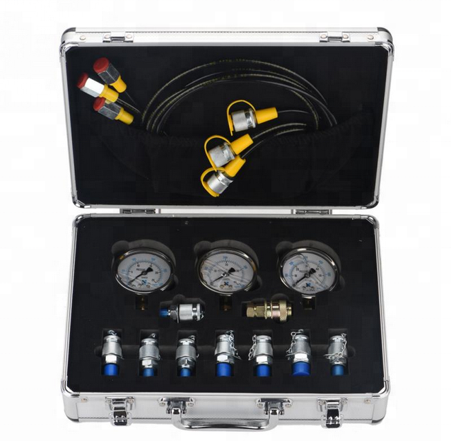 (High) 저 (Quality Hydraulic Pressure Test Gauge 키트 대 한 Construction 기계 Measuring
