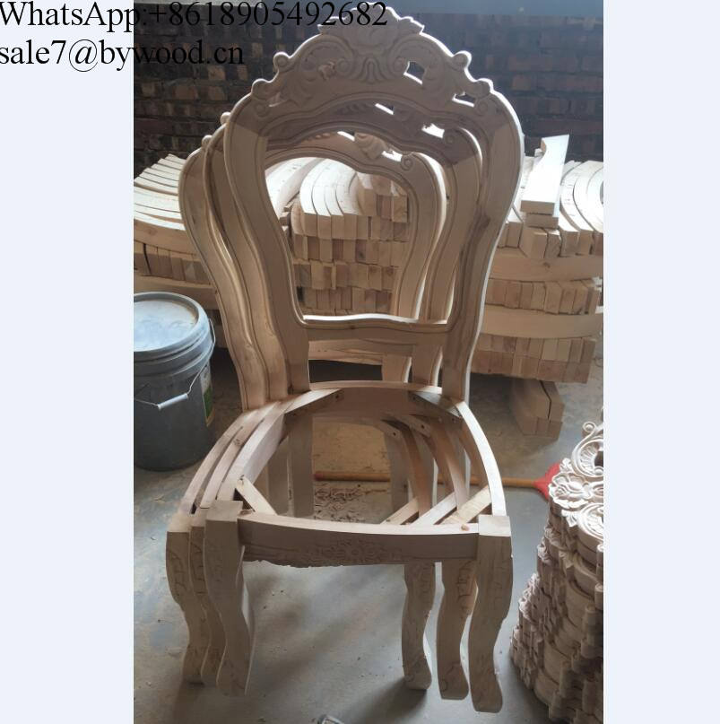 wholesale unfinished Wooden Sofa Frame furniture frame carving wood Chair Frame