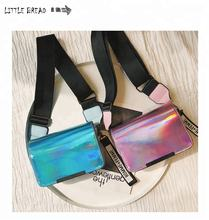 Waist Bag Women Casual Shiny Sequins Female Waist Fanny Pack Belt Bag Money Wallet Travel Holiday Belt Spangle Pouch Bum Bag