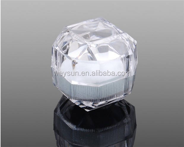 Acrylic Crystal clear ring box / Jewelry Box Case / Gift boxes