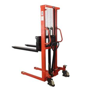 Portable hand forklift / manual stacker/ hydraulic forklift trucks made in China 2 ton hydraulic hand operated forklift