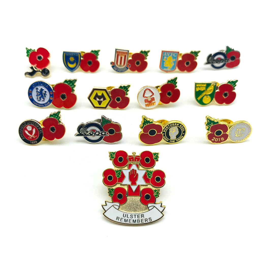 LEST WE FORGET  POPPY BADGES  17p from every badge goes to the british legion