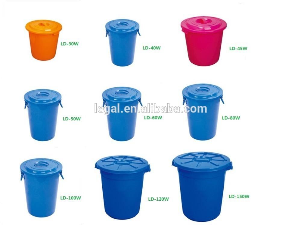 中国プラスチック安いバケツ/廃棄物バケツ蓋付き