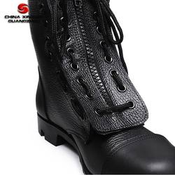 Military leather boots molding process fast delivery boots for men