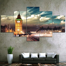 Wholesale Landscape Picture Custom Print on Canvas 5 Panel Wall Art Canvas prints