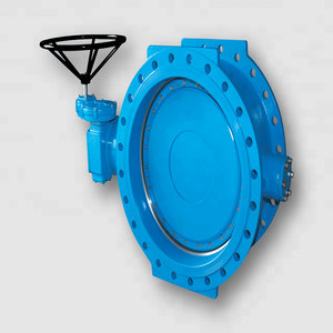 china supplier Double eccentric Flanged butterfly valve body ductile iron price list